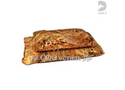 Лежанка прямоугольная с рисунком со съемным чехлом