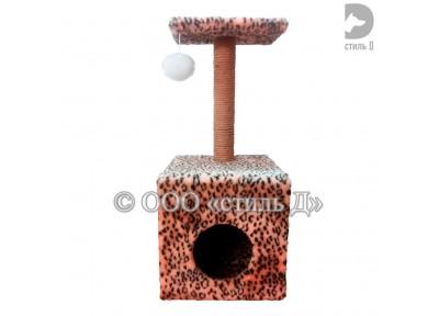 Куб с полкой и когтеточкой 40х40х72 см (Артикул Д4040)