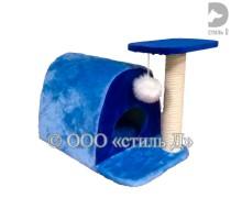 Домик овальный с когтеточкой 40х63х56 см (Артикул д4056)