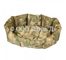 Лежанка с мягкой подушкой милитари