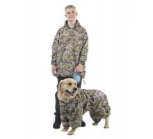 Комплект дождевик для человека/комбинезон для собаки КПЧМ02
