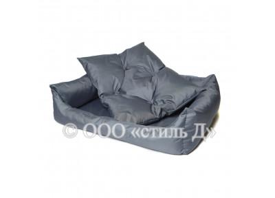 Лежанка с мягкими бортиками и мягкой подушкой