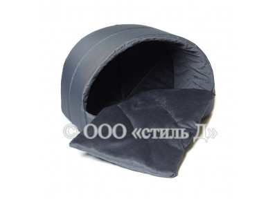 Лежанка-домик с двухсторонней подушкой (окфорд/велюр)