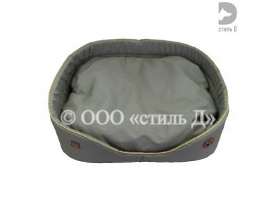 Лежанка с мягкой подушкой со съемным чехлом