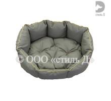 Лежанка с мягкой подушкой с кантом